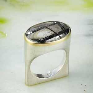 Silber 925 Gold 750 Turmalinquarz